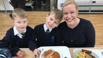 Year 2 lunch with parents